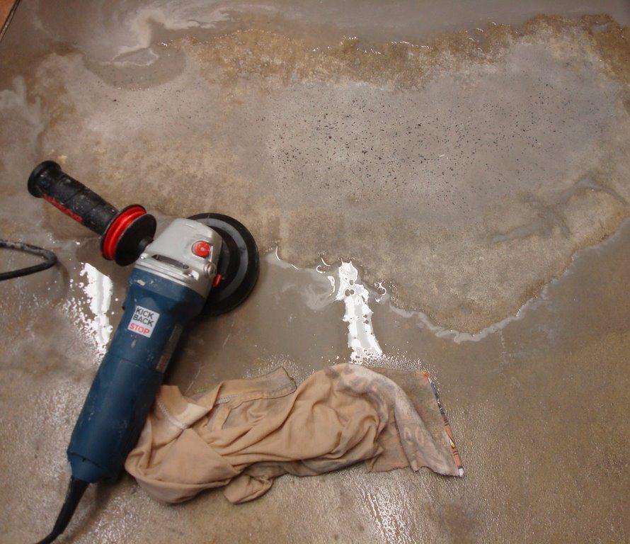 через сколько шлифовать бетон